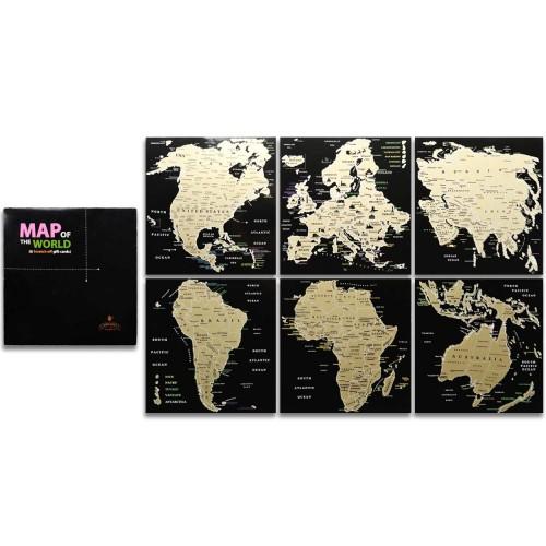 Набір скретч листівок «Карта світу» EN