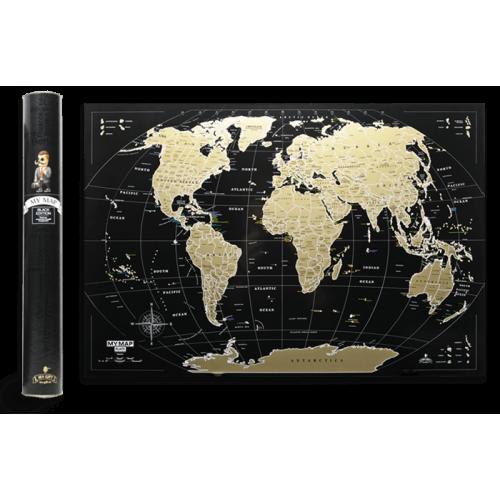 Скретч карта My Map Black edition Mini (ENG)