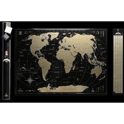 Скретч карта My Map Black edition (ENG)