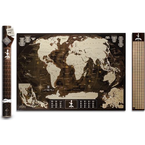 Скретч карта My Map Chocolate edition (ENG)