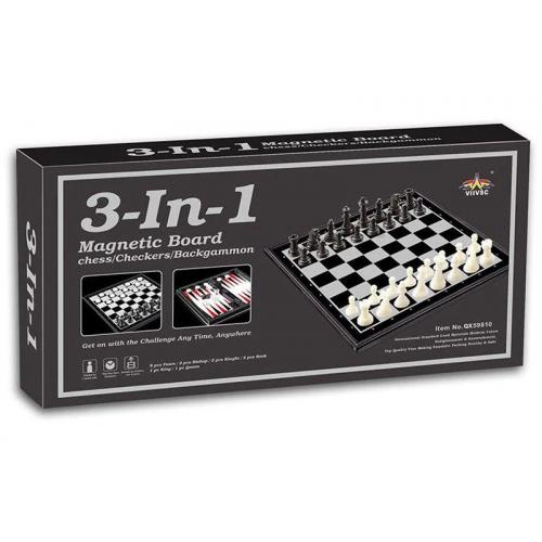 Шахи магнітні 3в1