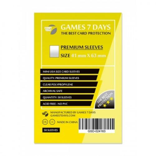 Протектори для карт Games 7 Days 41x63 мм Premium (50 шт)