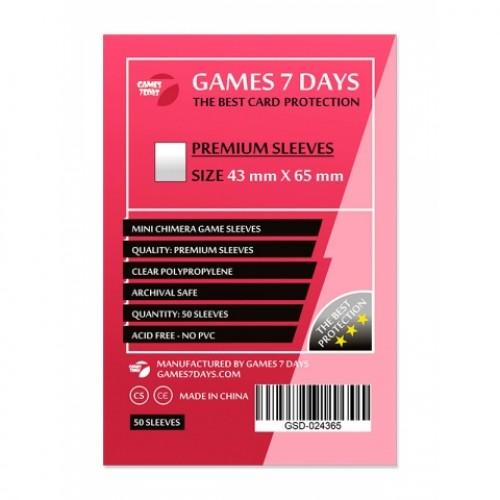 Протектори для карт Games 7 Days 43x65 мм Premium (50 шт)