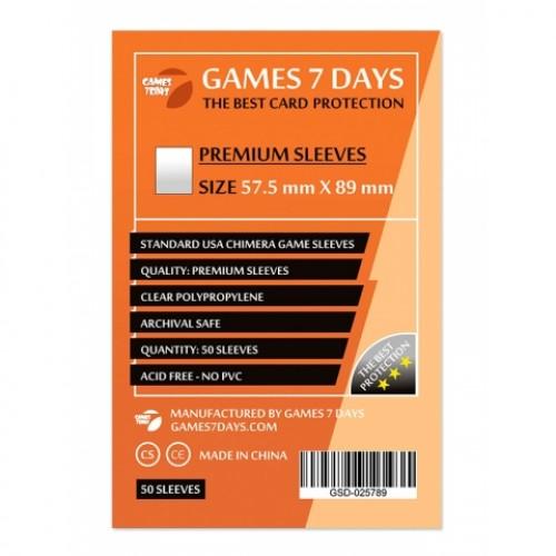 Протектори для карт Games 7 Days 57,5x89 мм Premium (50 шт)