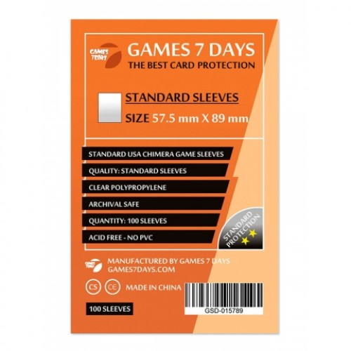 Протектори для карт Games 7 Days 57,5x89 мм (100 шт)