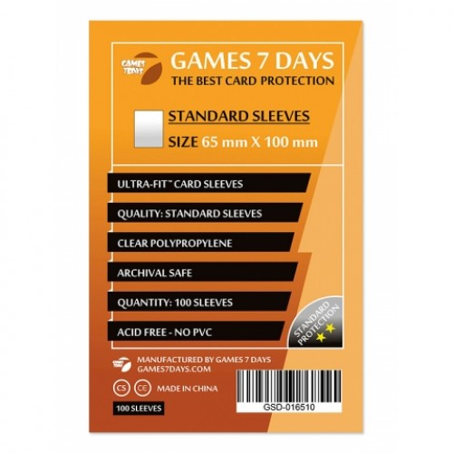 Протектори для карт Games 7 Days 65x100 мм (100 шт)